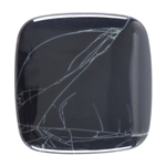 Spiderweb Obsidian Gemstone - Cabochon Square 40mm Pkg - 1
