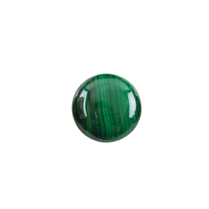 Natural Malachite Gemstone - Cabochon Round 14mm - Pak of 1