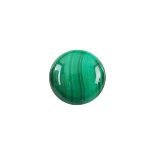 Natural Malachite Gemstone - Cabochon Round 16mm - Pak of 1