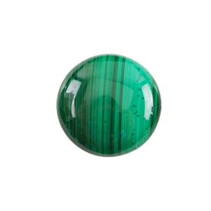 Natural Malachite Gemstone - Cabochon Round 20mm - Pak of 1