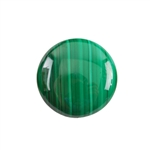 Natural Malachite Gemstone - Cabochon Round 25mm - Pak of 1