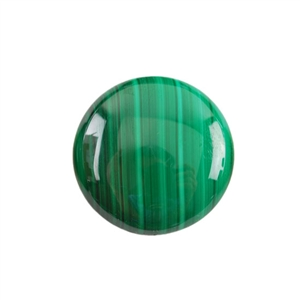 Natural Malachite Gemstone - Cabochon Round 25mm