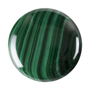 Natural Malachite Gemstone - Cabochon Round 30mm - Pak of 1