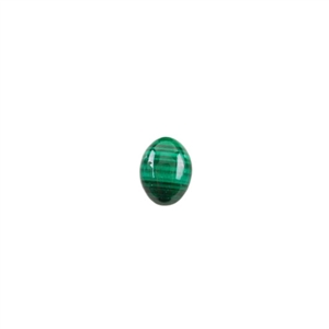 Natural Malachite Gemstone - Cabochon Oval 6x8mm - Pak of 4