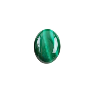 Natural Malachite Gemstone - Cabochon Oval 12x16mm - Pak of 1