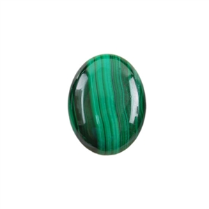 Natural Malachite Gemstone - Cabochon Oval 15x20mm - Pak of 1