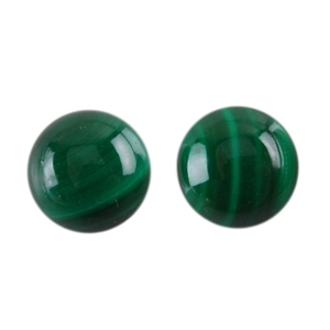 Natural Malachite Gemstone - Cabochon Round 6mm - Pak of 5