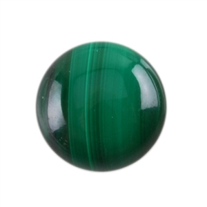 Natural Malachite Gemstone - Cabochon Round 8mm - Pak of 3