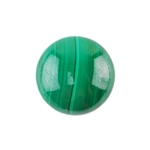 Natural Malachite Gemstone - Cabochon Round 12mm - Pak of 1