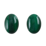 Natural Malachite Gemstone - Cabochon Oval 5x7mm - Pak of 2
