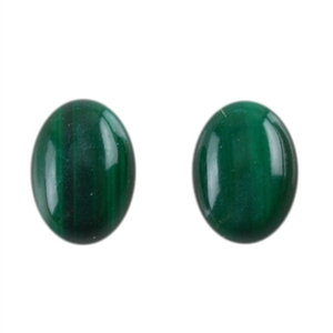 Natural Malachite Gemstone - Cabochon Oval 5x7mm - Pak of 1