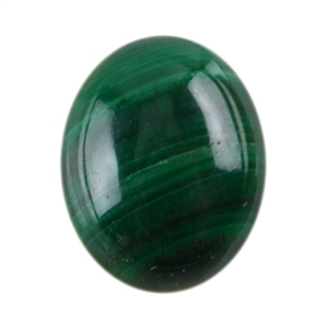 Natural Malachite Gemstone - Cabochon Oval 8x10mm - Pak of 1