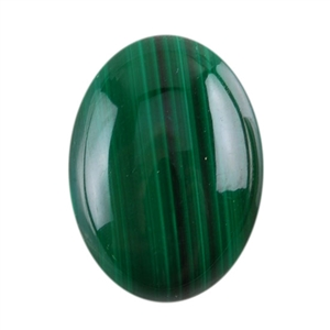 Natural Malachite Gemstone - Cabochon Oval 13x18mm - Pak of 1