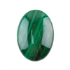 Natural Malachite Gemstone - Cabochon Oval 18x25mm - Pak of 1