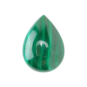 Natural Malachite Gemstone - Cabochon Pear 10x14mm - Pak of 1