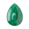 Natural Malachite Gemstone - Cabochon Pear 18x25mm - Pak of 1