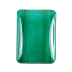 Natural Malachite Gemstone - Cabochon Rectangle 13x18mm - Pak of 1