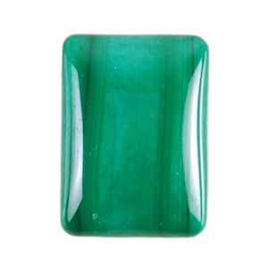 Natural Malachite Gemstone - Cabochon Rectangle 13x18mm