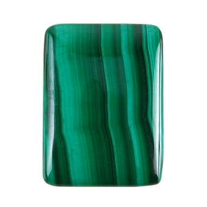 Natural Malachite Gemstone - Cabochon Rectangle 18x25mm - Pak of 1