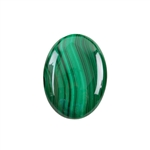 Natural Malachite Gemstone - Cabochon Oval 22x30mm - Pak of 1