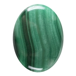 Natural Malachite Gemstone - Cabochon Oval