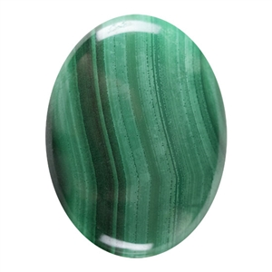 Natural Malachite Gemstone - Cabochon Oval 30x40mm
