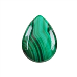 Natural Malachite Gemstone - Cabochon Pear 22x30mm - Pak of 1