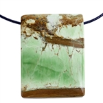 Variscite Nevada Opal Gemstone - Pear Pendant 24x47mm - Pak of 1