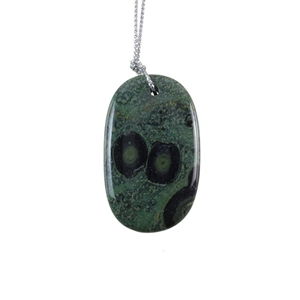 Kambaba Japser Gemstone - Oval Pendant 27x45mm - Pak of 1