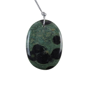 Kambaba Japser Gemstone - Oval Pendant 32x43mm - Pak of 1