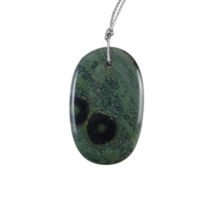 Kambaba Japser Gemstone - Oval Pendant 29x46mm - Pak of 1