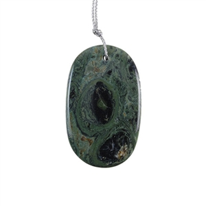 Kambaba Japser Gemstone - Oval Pendant 30x49mm - Pak of 1
