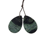 Kambaba Japser Gemstone - Pear Pendants 20x30mm - Matched Pair