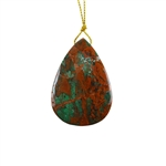 Natural African Green Opal Gemstone - Pendant Pear 36x51mm - Pak of 1