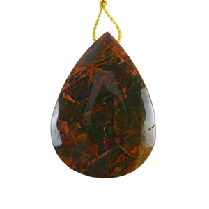 Natural African Green Opal Gemstone - Pendant Pear 35x48mm - Pak of 1