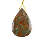 Natural African Green Opal Gemstone - Pendant Pear 32x45mm - Pak of 1