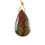 Natural African Green Opal Gemstone - Pendant Pear 25x43mm - Pak of 1