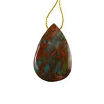 Natural African Green Opal Gemstone - Pendant Pear 27x41mm - Pak of 1