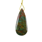 Natural African Green Opal Gemstone - Pendant Pear 20x29mm - Matched Pair