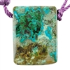 Shattuckite Gemstone - Rectangle Pendant 24mm x 32mm - Pkg of 1