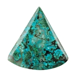 Shattuckite Gemstone - Rounded Triangle Cabochon 32mm x 34mm - Pkg of 1