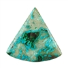 Shattuckite Gemstone - Rounded Triangle Cabochon 40mm - Pkg of 1