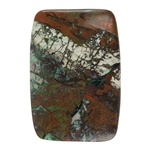 Natural Chrysocolla Cuprite Gemstone - Cabochon Rectangle 36mm x 52mm Pkg - 1