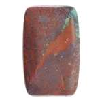 Natural Chrysocolla Cuprite Gemstone - Cabochon Rectangle 31mm x 56mm Pkg - 1