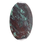 Natural Chrysocolla Cuprite Gemstone - Cabochon Oval 30mm x 50mm Pkg - 1