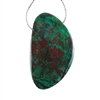 Natural Chrysocolla Gemstone - Freeform Pendant 32mm x 55mm - Pak of 1
