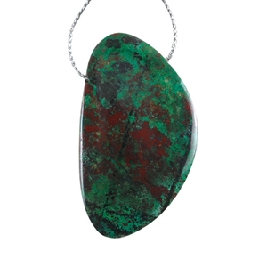 Arizona Azurite Gemstone - Pear 27x52mm Pendant - Pak of 1