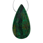 Natural Chrysocolla Gemstone - Pear Pendant 27mm x 52mm - Pak of 1