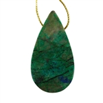 Natural Chrysocolla Gemstone - Pear Pendant 28mm x 52mm - Pak of 1