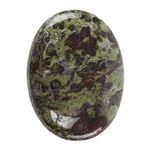 Natural Dragon Blood Jasper Gemstone - Cabochon Oval 30mm x 40mm Pkg - 1